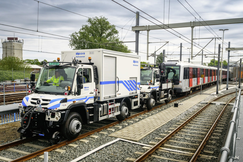 Deux Unimog en soutien pour le métro d'Amsterdam