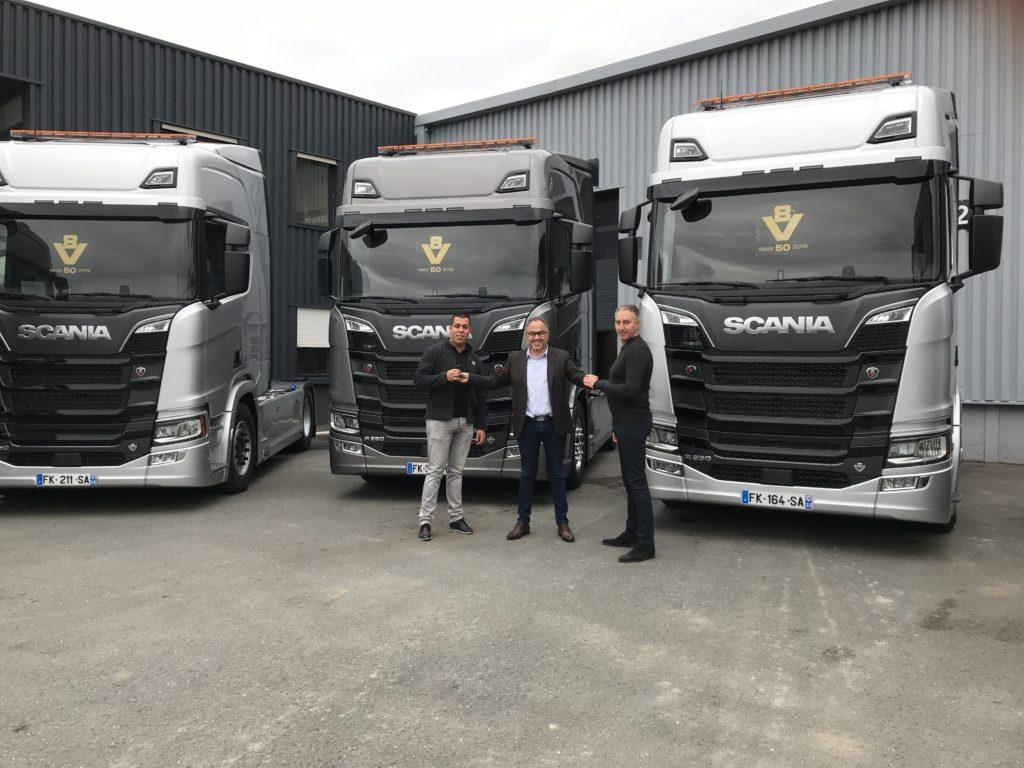 Scania Aquitaine livre de nouveaux  véhicules pour le transport d'engins